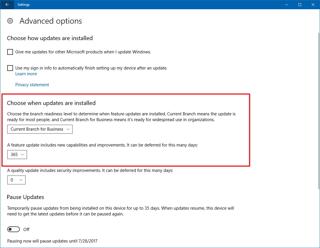 How to block windows 10 fall creators update from installing