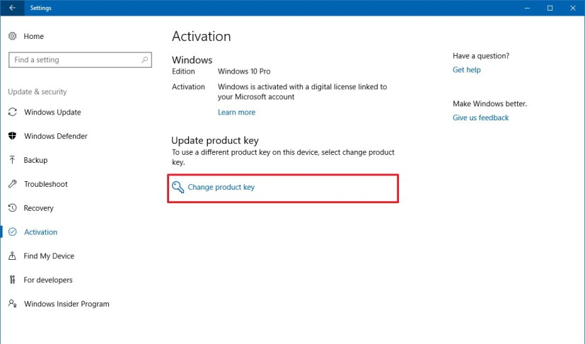 Change product key on Windows 10 S