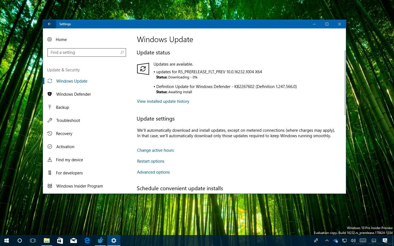Windows 10 build 16232.1004
