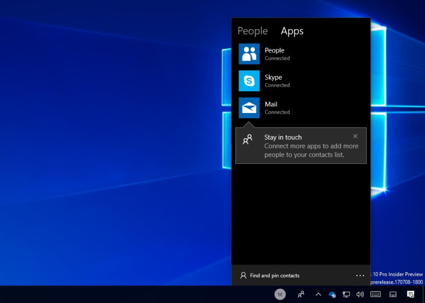 Windows 10 Fall Creators Update My People