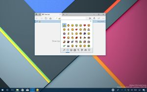 Windows 10 emoji using hardware keyboard