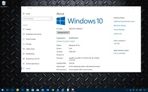 Windows 10 hardware configuration