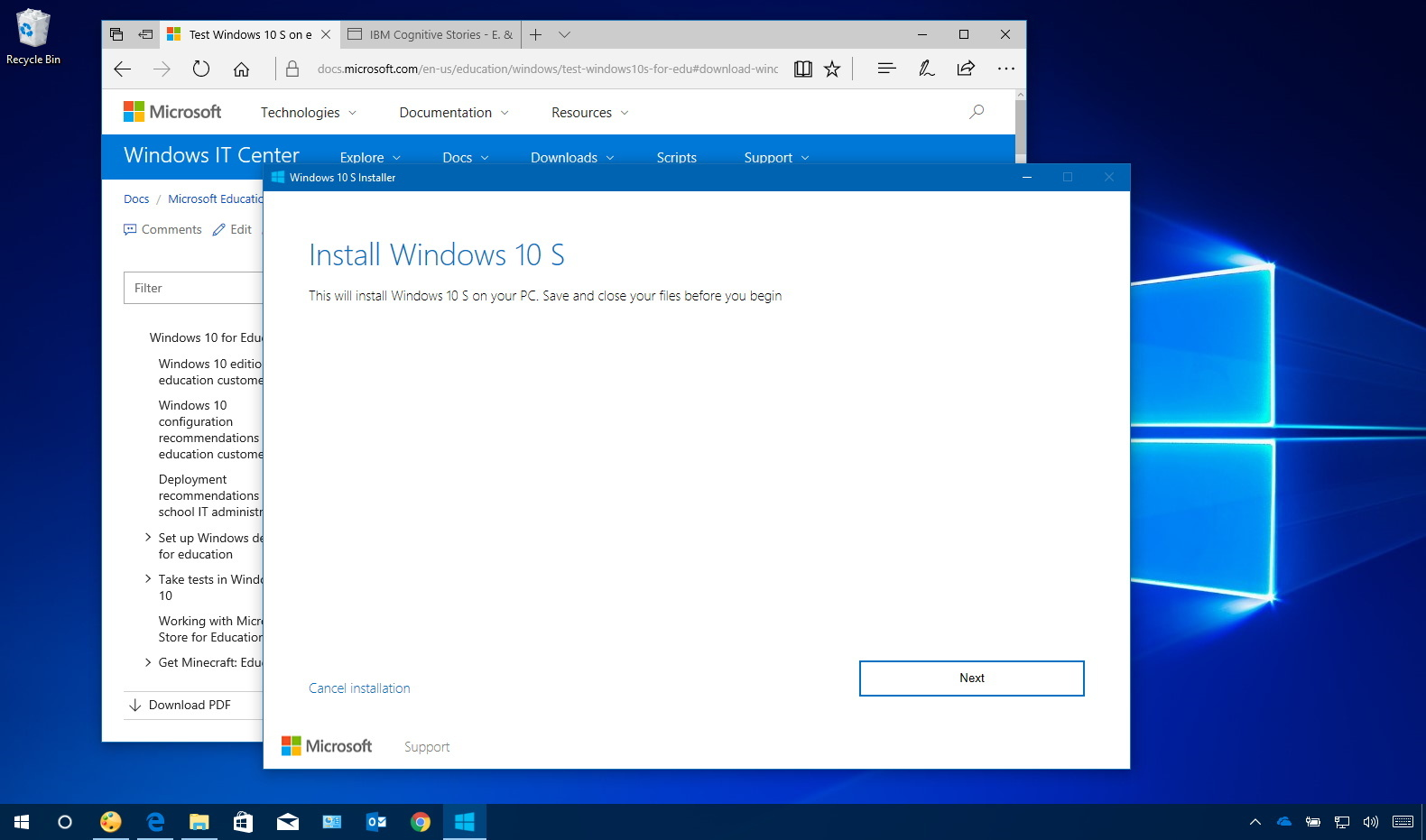 Download Windows 10 S installer
