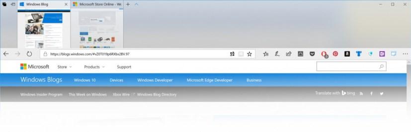 Microsoft Edge with Fluent Design