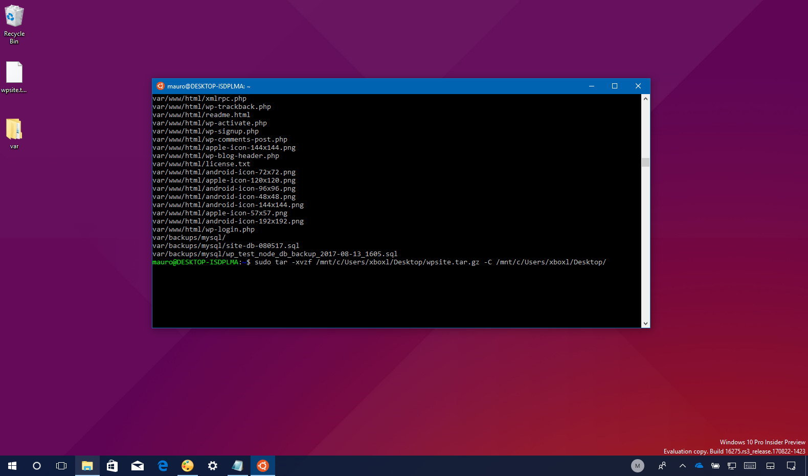 How to quickly extract .tar.gz files on Windows 10 \u2022 Pureinfotech