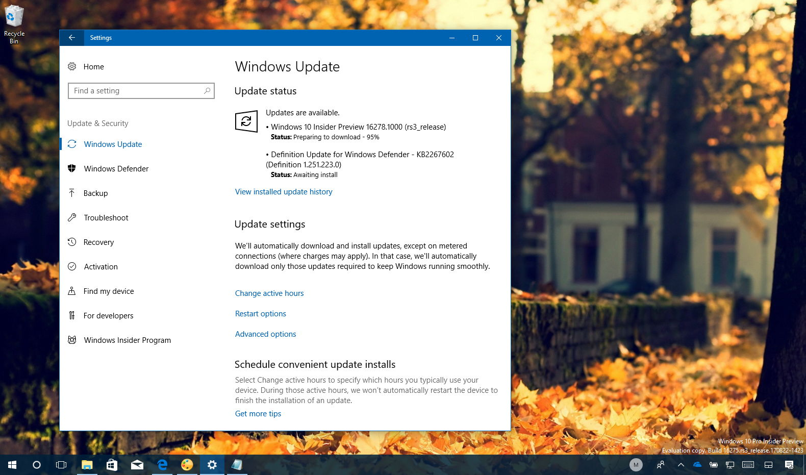 Windows 10 build 16278