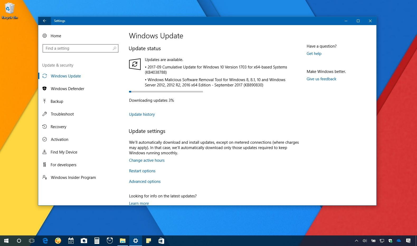 Windows 10 update KB4038788 (build 15063.608) releases • Pureinfotech