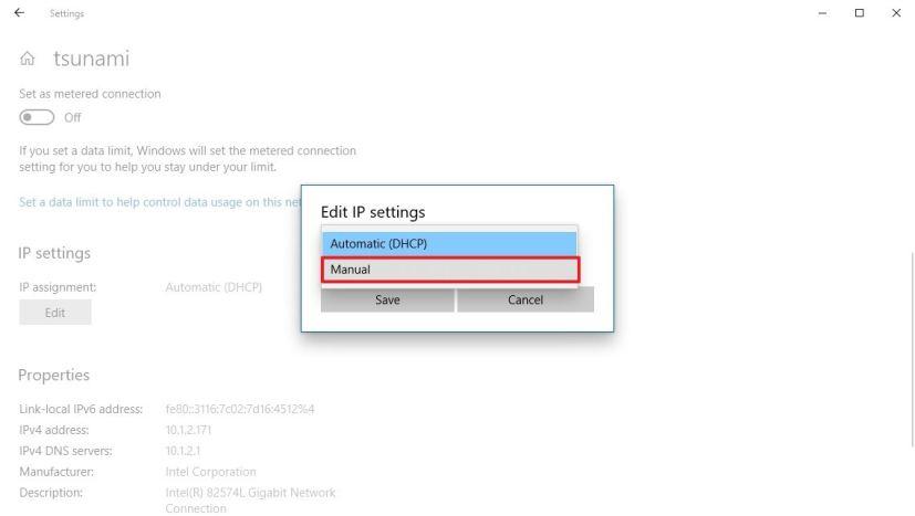 How to set a static IP address on Windows 10 • Pureinfotech