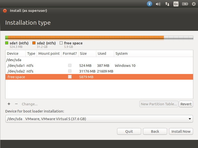 Ubuntu partition tool
