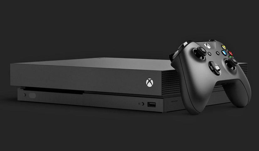 Xbox One X with controller