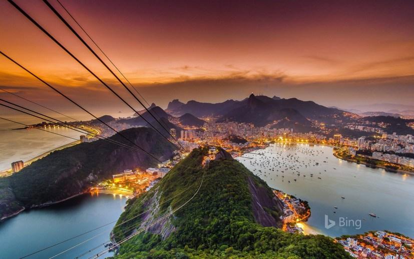 Rio de Janeiro from Sugarloaf Mountain, Brazil