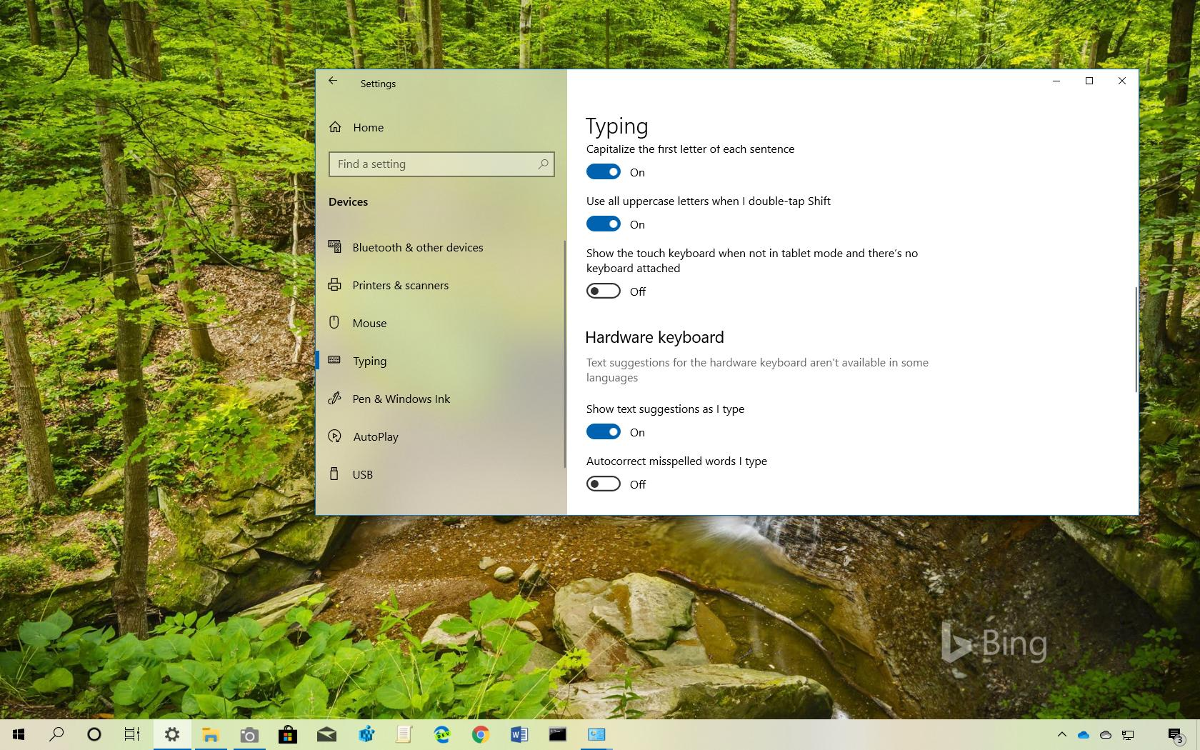 Show text suggestions as you type on WIndows 10