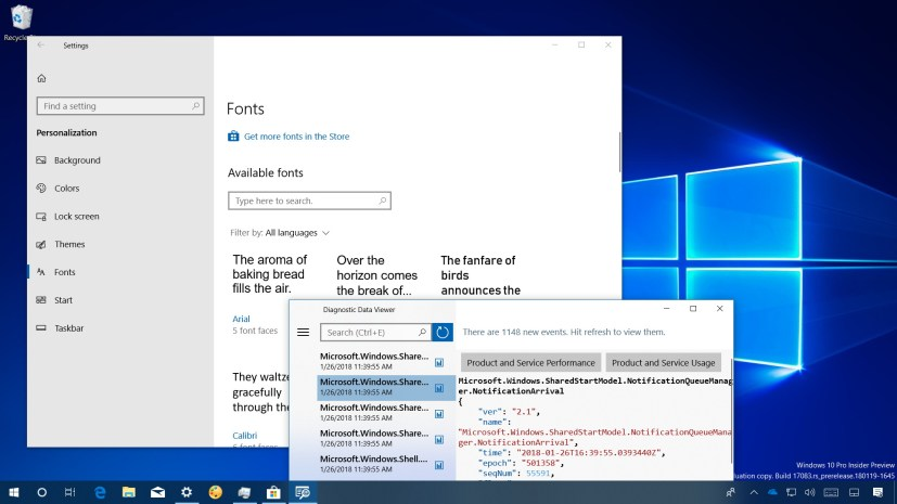 Windows 10 build 17083 video review