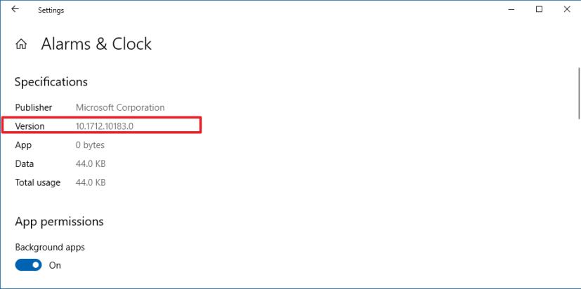Windows 10'daki uygulama sürümü numarası bilgileri