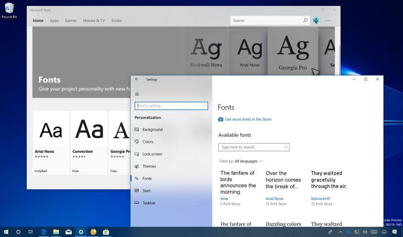 Installing or Uninstalling fonts on Windows 10