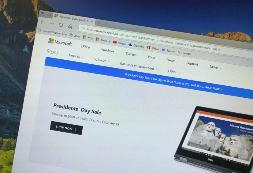 Microsoft Store President's Day sale for 2018