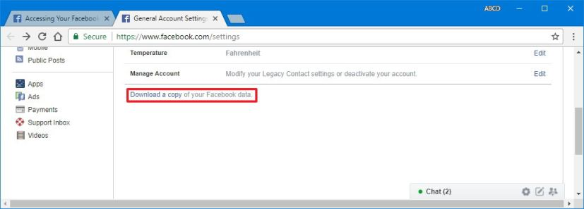 How to download your Facebook data • Pureinfotech