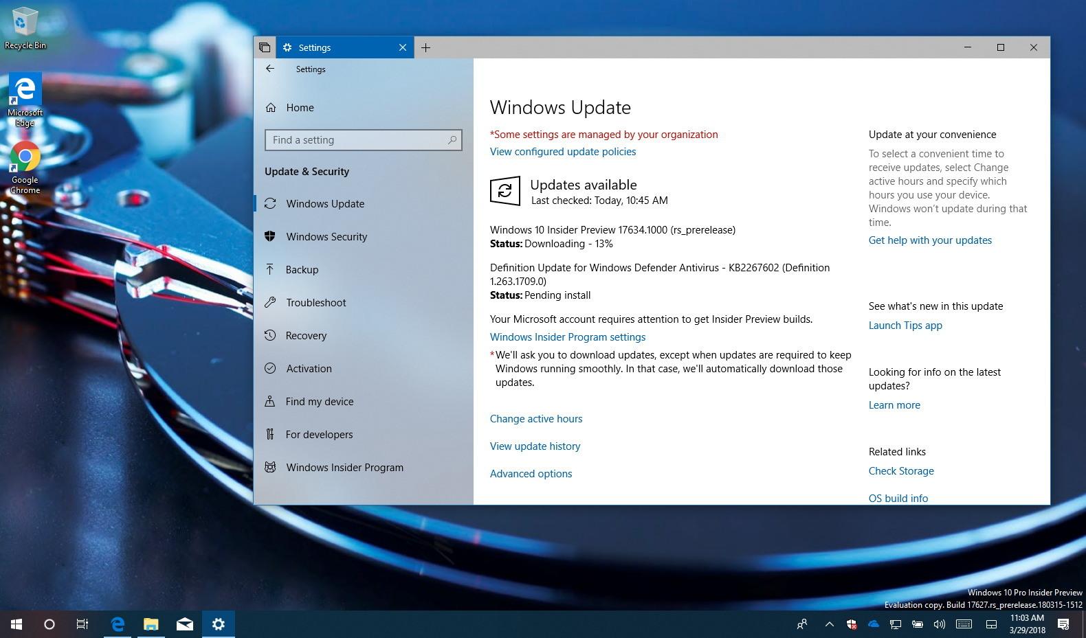 Windows 10 build 17634