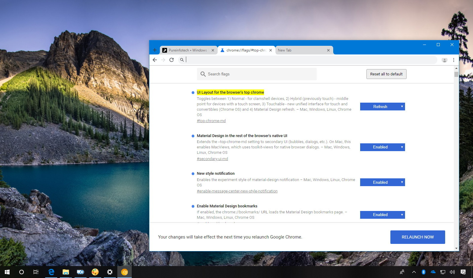 How to enable Google Chrome's Material Design Refresh interface
