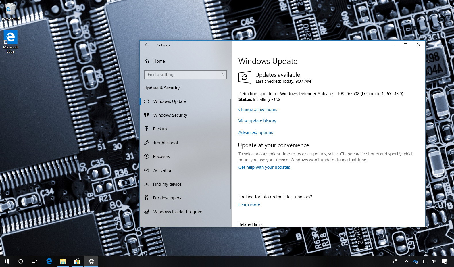 Windows 10 version 1803 delayed