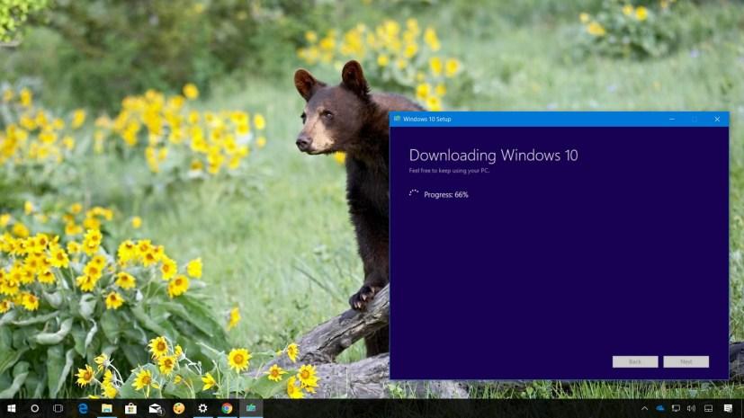 Windows 10 version 1803 upgrade process using Media Creation Tool
