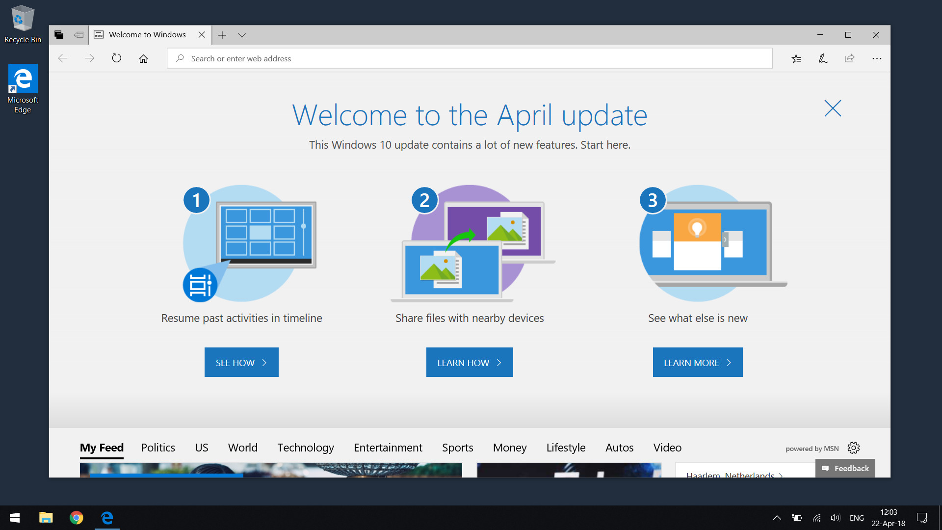 Windows 10 April update is the official name for version 1803