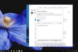 Custom signature using Mail app on Windows 10