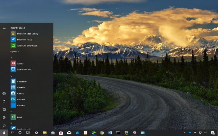 Hitting The Road theme for Windows 10 (download) • Pureinfotech