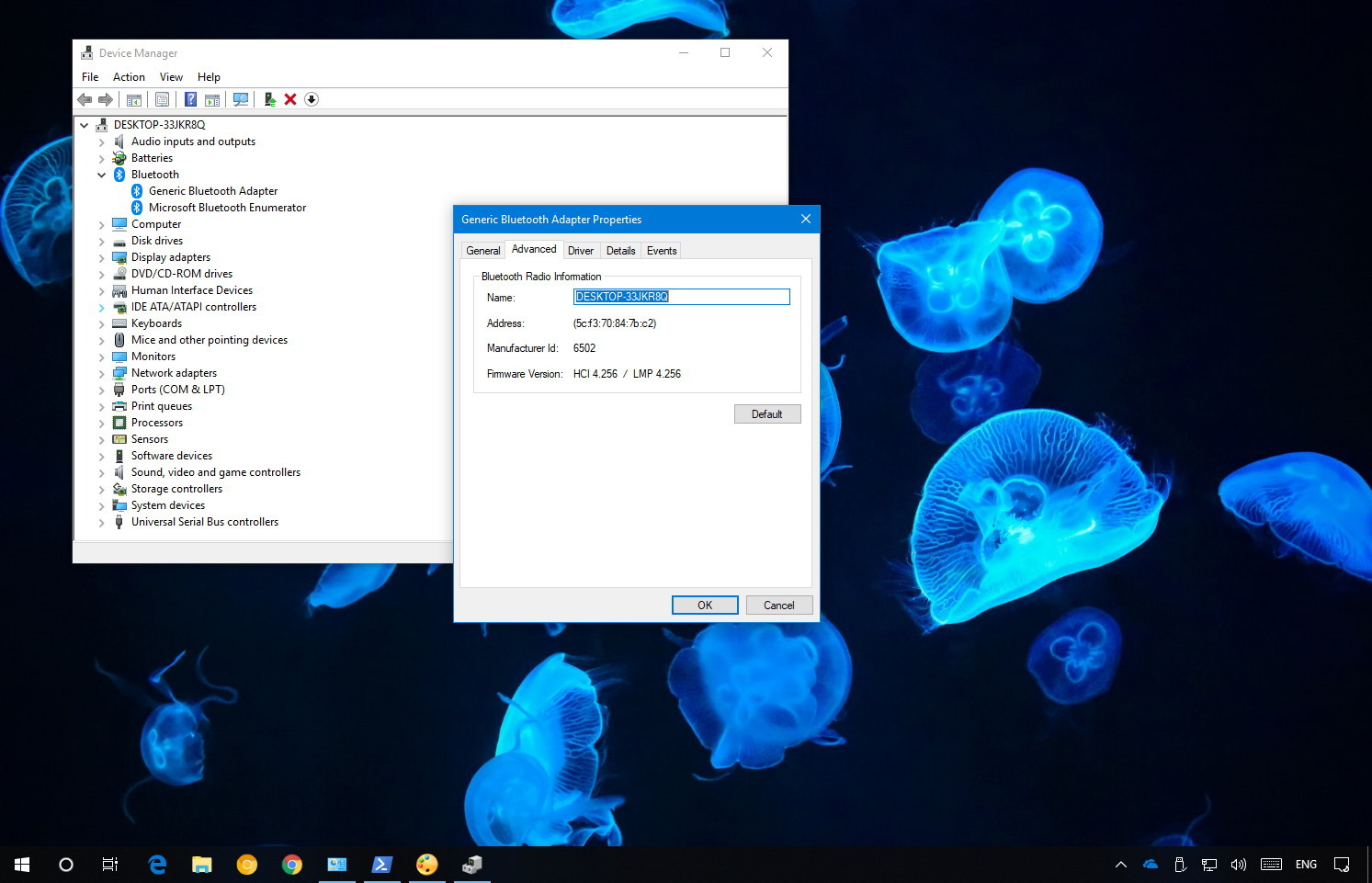 Bluetooth version information on Windows 10