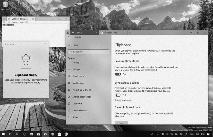 Windows 10 clipboard in this Weekly Digest