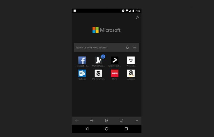 Dark theme for Microsoft Edge on Android