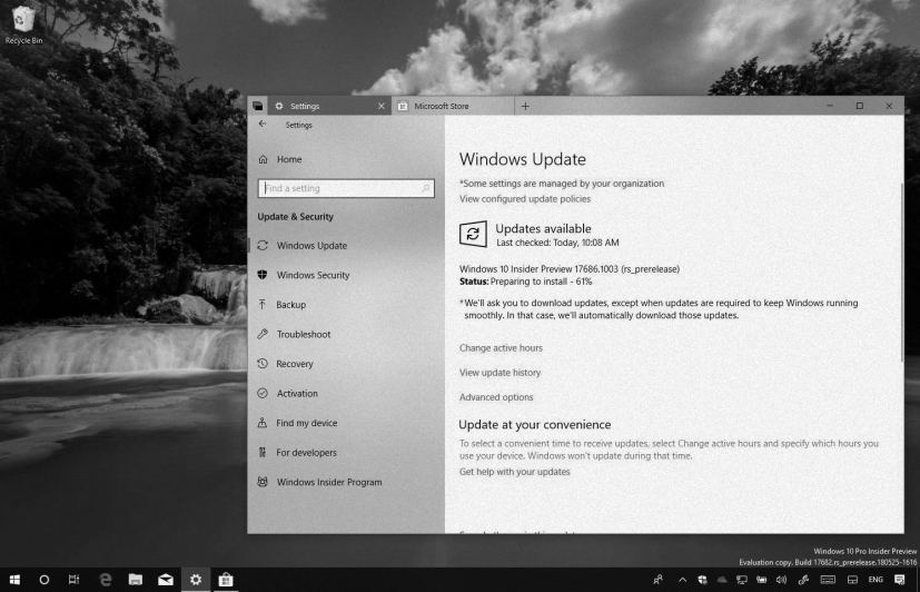 Windows 10 build 17686 on this weekly digest