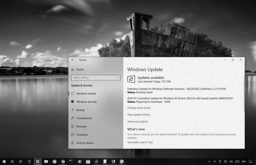 July 2018 Windows 10 update in this Weekly Digest