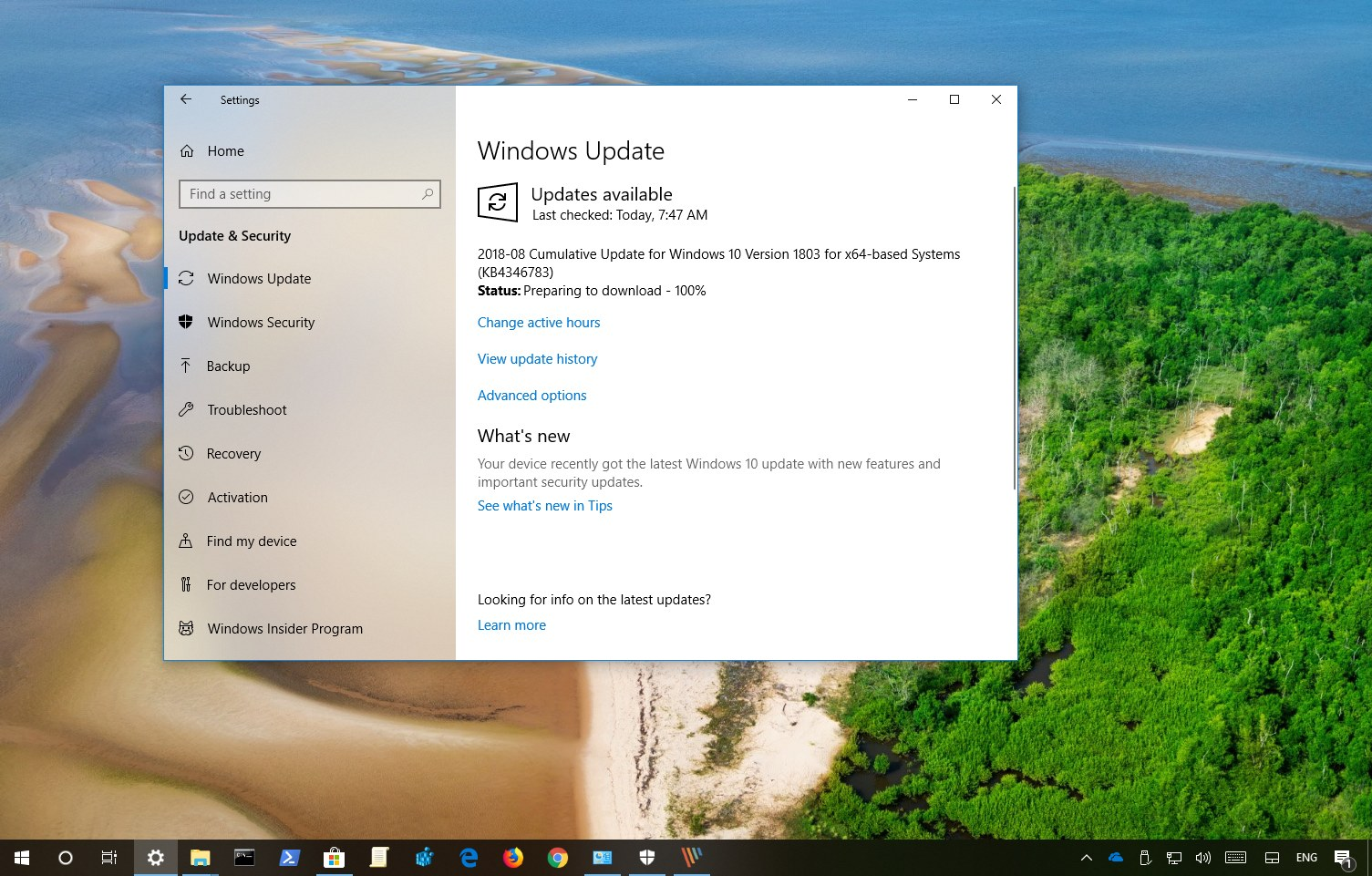 2019-01 update for windows 10 version 1803 for x64-based systems