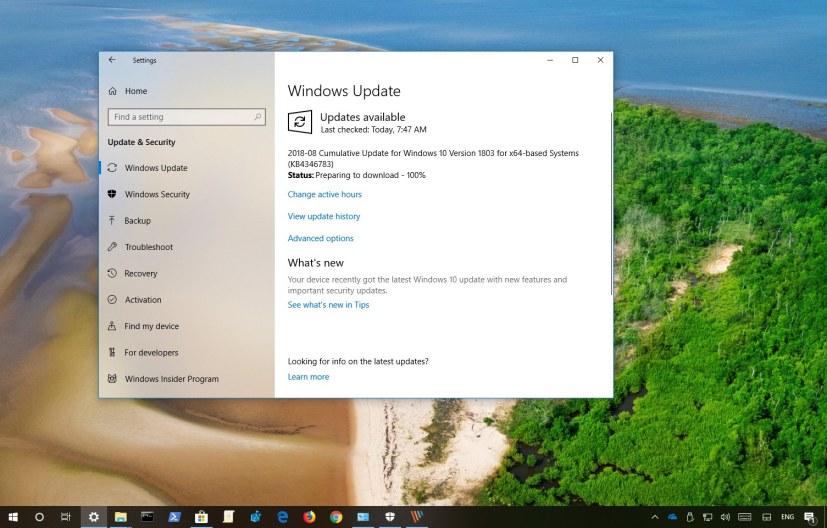 Windows 10 Update KB4346783
