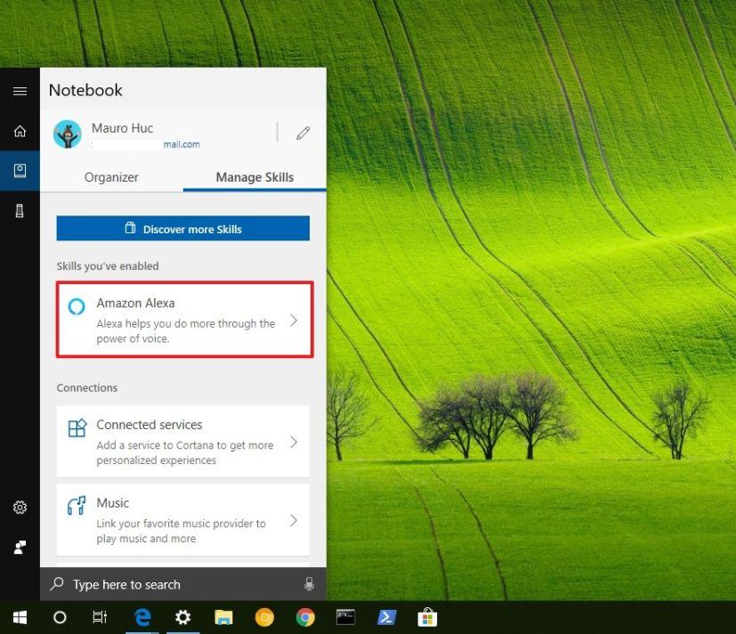 Cortana's Notebook Amazon Alexa skill