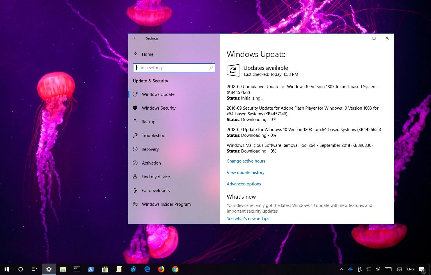 Windows 10 update KB4457128