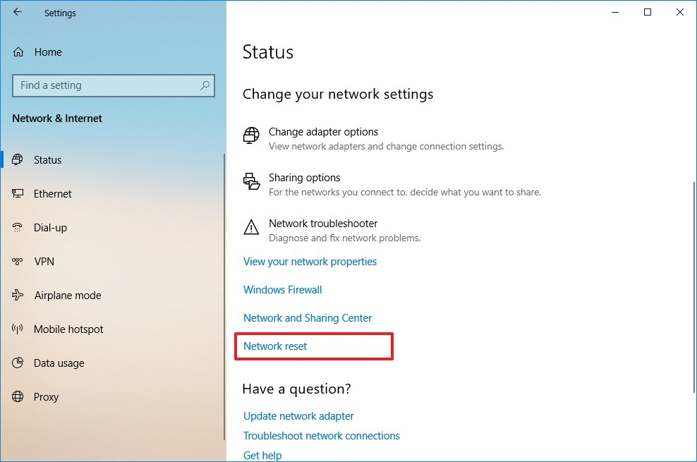 Windows 10 macbook no wifi adapter after reset