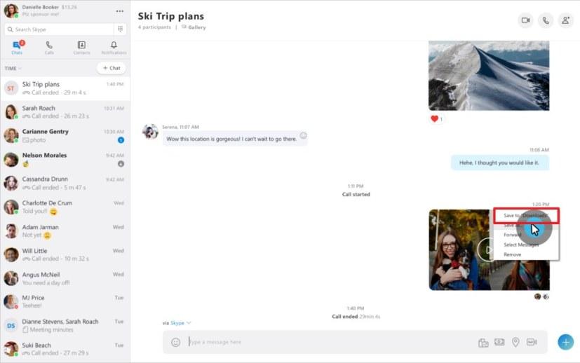 Save Skype call recording option