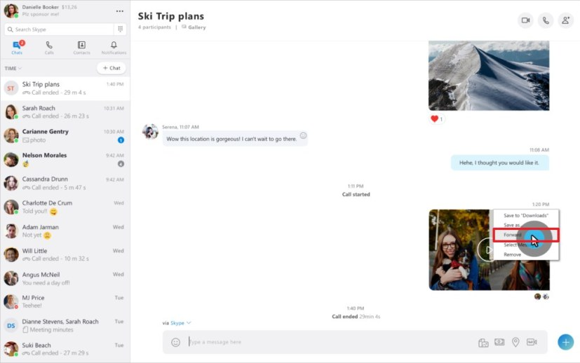Share Skype call recording settings