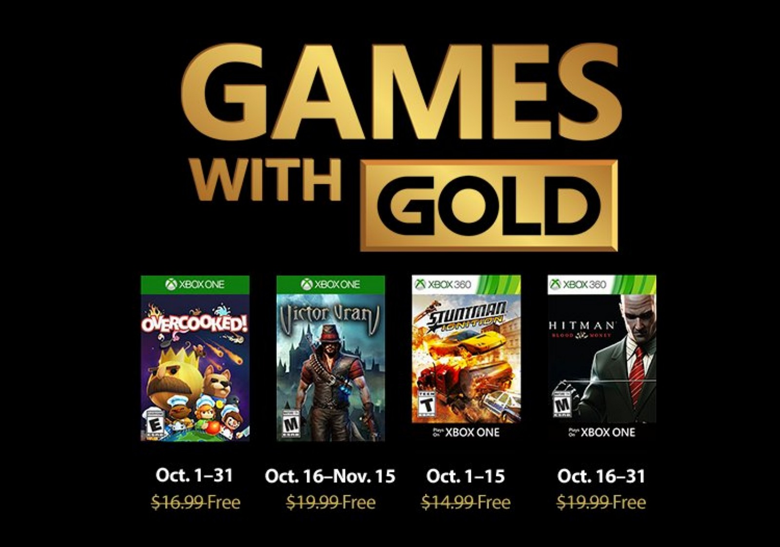 Xbox Games with Gold for 2018