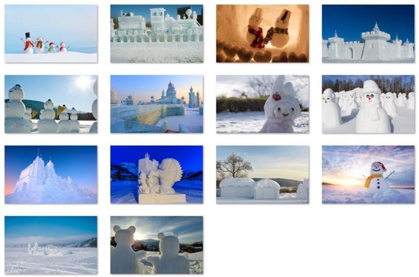 Snow Sculptures, Christmas wallpapers