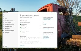 Windows 10 health and performance report