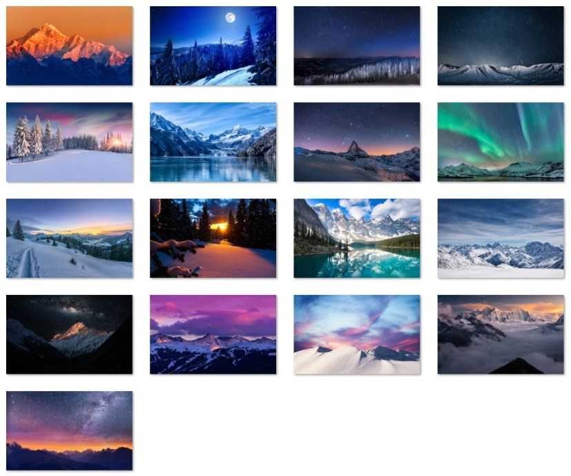 Snowy mountains wallpapers
