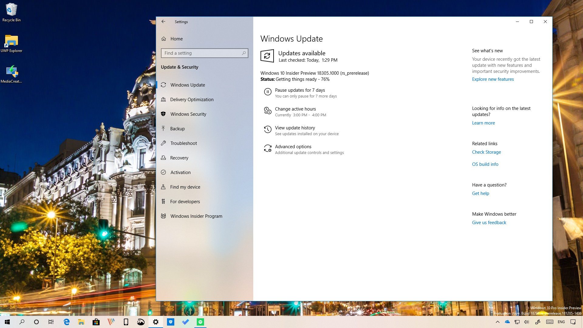 download windows 10 insider preview build 18290 offline iso files