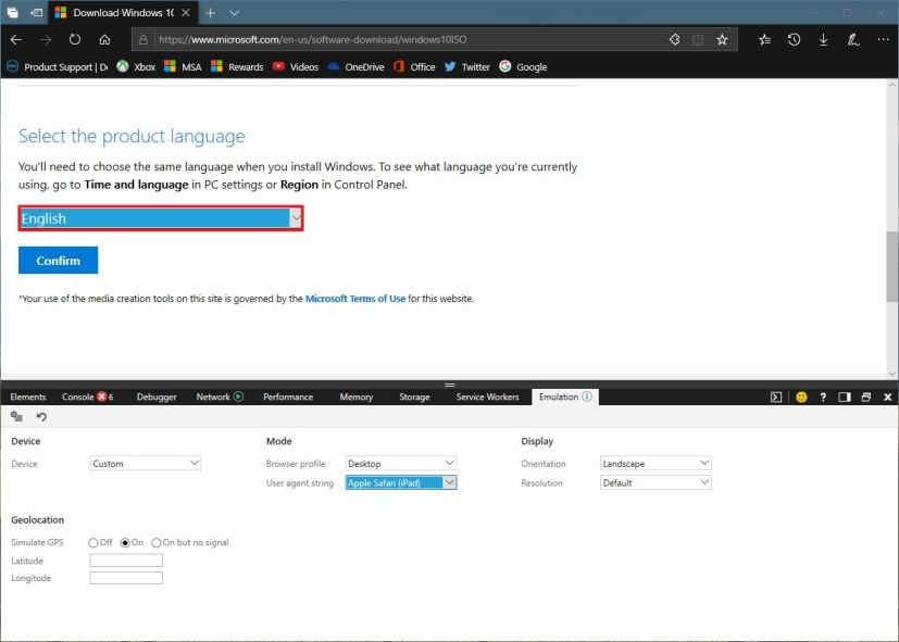 Windows 10 ISO file language selection