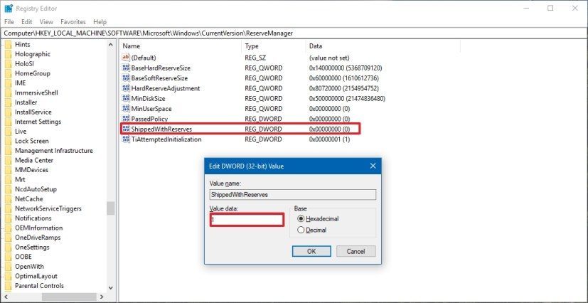 Enable Reserved Storage on Windows 10