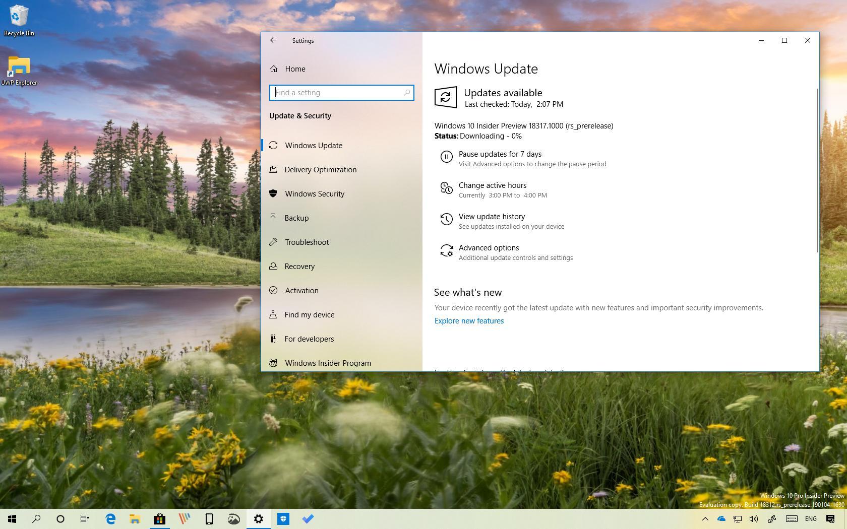 Windows 10 build 18317