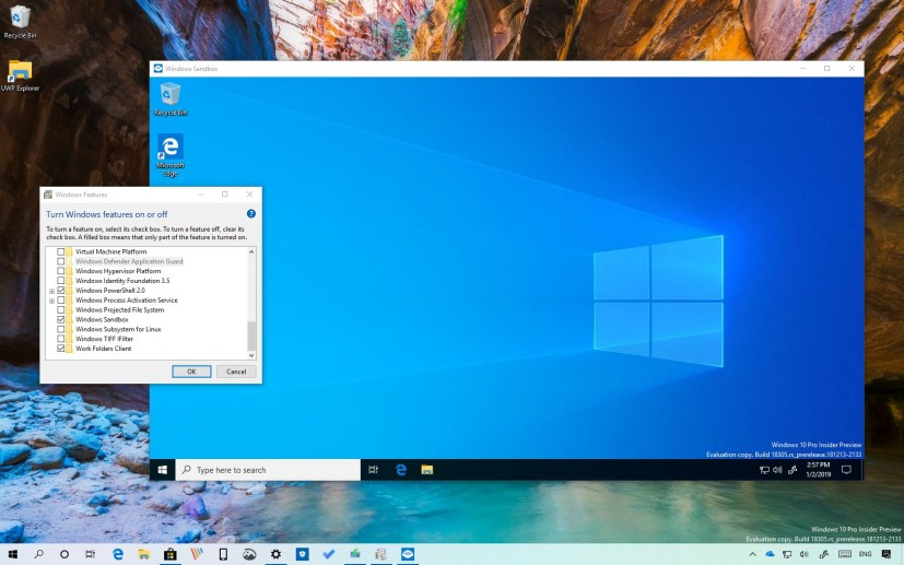 Windows Sandbox setup