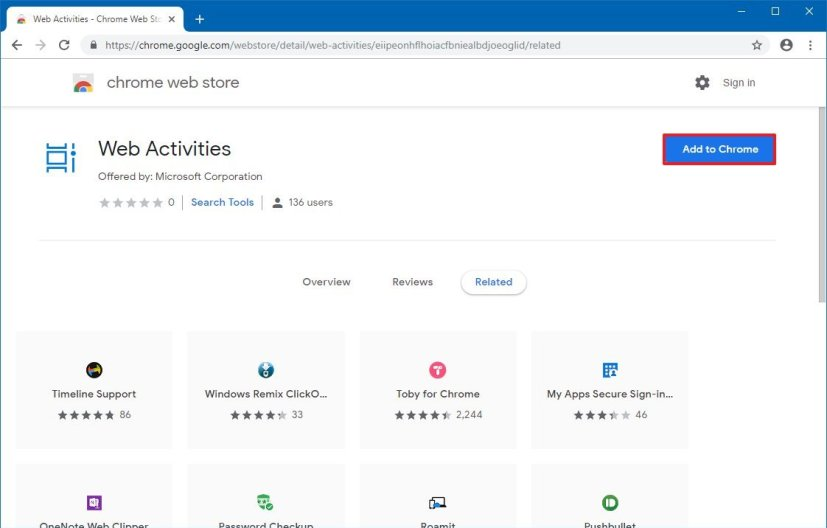 Download Web Activities extension for Chrome
